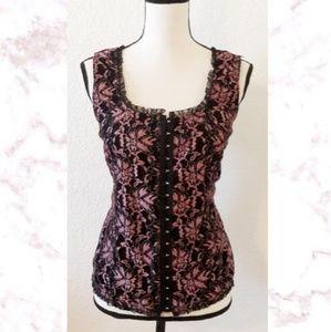Plus Lace Corset Style Top